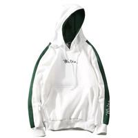 Sweater Jaket Hodie Pria White Fleece Kaos Baju Lengan Panjang Murah