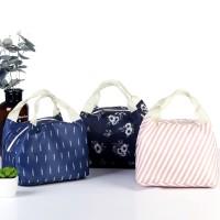 Unik Tas Bekal / Lunch Bag Thermal Insulated Portable Bahan Kanvas