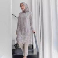 Lapak Solo Raya Pearl Baju Atasan Tunik Brokat Tile Muslimah