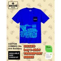 [ Kozzo Kids ] - Kaos Baju Atasan Anak Laki Laki 2-10T - Blue - Blue, Size Dua