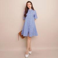 DRESS SQUARE HEQU (122) - Pakaian Wanita Dress Square - Hitam