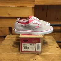 Sepatu Vans Authentic Neon Pop Frost Grey Pink BNIB Original Premium