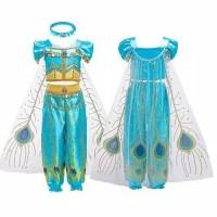 Baju pesta anak sz 3-8th costume princess jasmine celana
