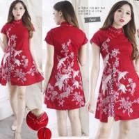 Sharine Cheongsam Dress Baju Wanita Imlek Chinese New Year Shirt 6190