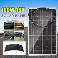 Solar Panel pembangkit listrik tenaga surya atap mobil perahu12v 100wp