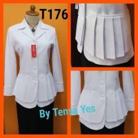 blazer kerja kantor putih asn kemeja putih baju putih pns seragam guru