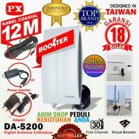 PX DA-5200 IN/OUTDOOR Antena Digital TV Booster 12 Meter Kabel Coaxial