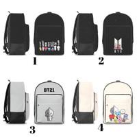 backpack tas punggung bag ransel custom kpop BTS / BT21 / army - M