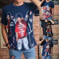 baju kaos distro pria 3d bangkok printing owl cook premium size L&XL