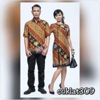 Baju Couple Batik 309 Sarimbit Pria wanita Dress oriental parang