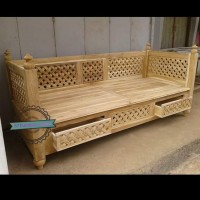 Bale2/ kursi panjang antik kayu jati mentahan bangku unik minimalis