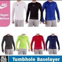 Baselayer Manset Bola Nike/Baju olahraga/Baselayer thumbhole Nike