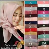 Hijab segiempat bahan organza premium