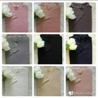 Manset Dalaman Baju Renda Wanita Bahan Kaos Rayon size Jumbo (XXXL)
