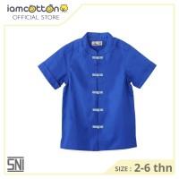 Baju Imlek Kemeja anak / Baju Anak - I am Cotton Shirt Cheongsam Blue