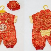 HOT SALE Setelan Baju Romper Topi Imlek Cheongsam China Cina Anak Bayi