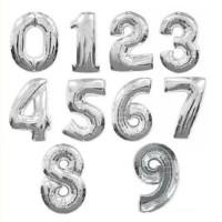 HOT SALE Balon Foil Huruf Nama dan Angka Gold / Emas dan Perak /