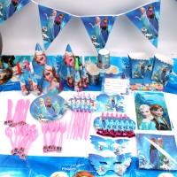 Set Peralatan Makan Desain Frozen untuk Dekorasi Pesta Ulang Tahun