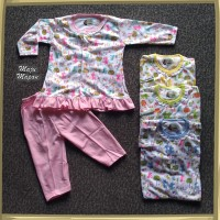 ZPY94 Setelan Baju Bayi Perempuan Piyama Baju Tidur Motif KANCIL RIFKI