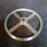 Pulley alumunium 12 inch A1 as 20 mm - puli alumunium pully