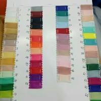 kain polos / kain organza silk/ bahan kerudung, dres, gaun, dll..