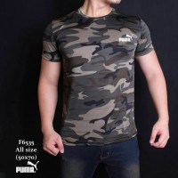 Baju Kaos ARMY Loreng tentara tbc gym fitness Fashion Cowok Pria