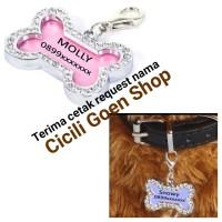import liontin nama cantik untuk bandul kalung anjing kucing kelinci