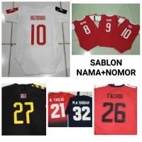 Custom Name / Sablon Press Nama + Nomor Setelan Baju Anak