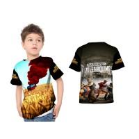 Kaos Baju Anak laki laki dan perempuan Custom Fullprint PUGB 03