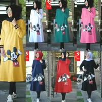 Baju Kaos / Kaos Wanita / Kaos Tangan Panjang Mickey / Tunik Mickey