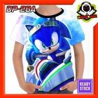 Kaos Sonic Baju Anak Murah tokoh kartun