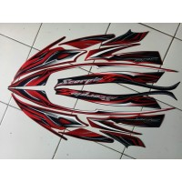 stiker striping yamaha scorpio z 2010 hitam merah