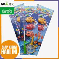 fishing game 3pcs ikan+joran Mainan Pancing
