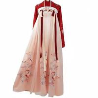 babydoll cheongsam long dress dewasa bunga floral motif imlek hanfu