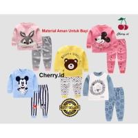 Piyama Anak setelan Baju Tidur Anak Laki dan Perempuan Import