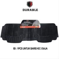 DURABLE Karpet PVC Khusus Bangku Ke 3 For Wuling Cortez - Black 1pcs