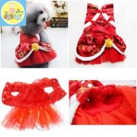 baju imlek anjing dan baju imlek kucing baju cheongsam anjing IMLEK014