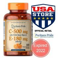 Puritan Vitamin C 500 E 180 mg 400IU Puritan's Pride 500mg 180mg Vit