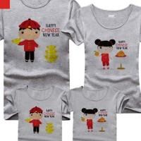 Baju Kaos Keluarga Couple Imlek FREE Request Nama - Year of Rat 2020