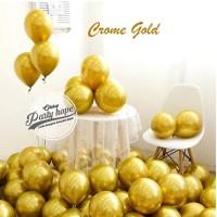 Balon Chrome Gold / Balon Metalik Chrome / Ballon Latex Metalic Chrome