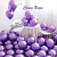 Balon Chrome Ungu / Balon Metalik Chrome / Ballon Latex Metalic Chrome