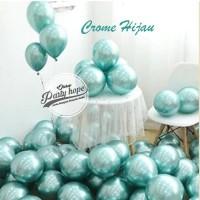 Balon Chrome Hijau / Balon Metalik Chrome Ballon Latex Metalic Chrome