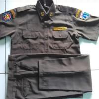 baju seragam pdh satpol PP lengkap dengan bet