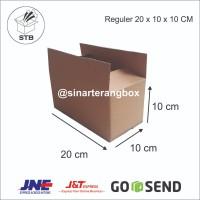 KARDUS BOX COKLAT CORRUGATED POLOS KARTON PACKING 20 x 10 x 10 CM