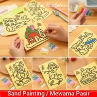 Mewarna/Melukis Pasir/Sand Painting Ukuran Besar. Mainan Edukasi Anak