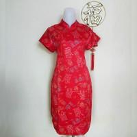 Jual Dress Cheongsam Imlek Bahan Satin Premium (Remaja Dan Dewasa)