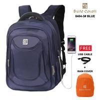 Bruno Cavalli Kasual CUBE USB 8404-3 - Tas Ransel Laptop 32L - Blue