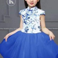 Baju imlek anak cewek OK biru