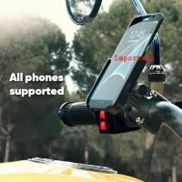 Smartphone Holder Handlebar Motor Universal CNC Dudukan HP Bracket GPS