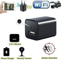 Spy Cam Camera Pengintai Charger Adaptor Wireless Wifi CCTV Camera